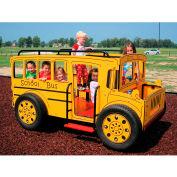 Kidvision School Bus Spring Rider en combinaison jaune et noire, pour 2 à 5 ans