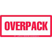 """LabelMaster® Étiquettes avec impression «Overpack», 6""""L x 2-1/2""""W, Blanc/Rouge, 500/Rouleau"""