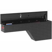 Weather Guard Pork Chop Truck Box, Black Aluminum Driver Side Full Size 2.1 Cu. Ft. Cap. - 170-5-01