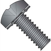 2-56X1/8  Phillips Pan Internal Sems Machine Screw Fully Threaded Black Oxide, Pkg of 10000