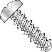 #2 x 3/16 Phillips Pan High Low Screw Fully Threaded Zinc Bake - Pkg of 10000