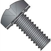 2-56X3/16  Phillips Pan Internal Sems Machine Screw Full Thrd Black  Zinc Bake, Pkg of 10000