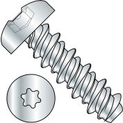 #2 x 3/8 Six Lobe Pan High Low Screw Fully Threaded Zinc Bake - Pkg of 10000