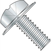 4-40X1/2  Phillips Pan Square Cone Sems Fully Threaded Zinc, Pkg of 10000