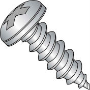 #8 x 1/4 Phillips Pan Self Tapping Screw Type AB Fully Threaded 18-8 Stainless Steel - Pkg of 5000