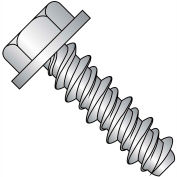 #8 x 1/4 Unslotted Indented Hex Washer High Low Screw Full Thread 410 Stainless Steel - Pkg of 10000