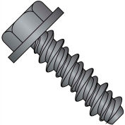 #8 x 3/4 #6HD Unslotted Indented Hex Washer High Low Screw Fully Threaded Black Oxide - Pkg of 8000