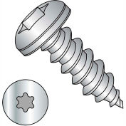#10 x 1-1/4 Six Lobe Pan Self Tapping Screw Type A Full Thread 18-8 Stainless Steel - Pkg of 2000