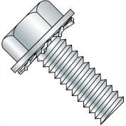 10-32X1/2  Unslotted Hex Washer External Sems Machine Screw Fully Threaded Zinc, Pkg of 8000