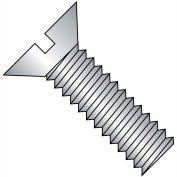 12-24X1/2  Slotted Flat Machine Screw Fully Threaded 18 8 Stainless Steel, Pkg of 2000