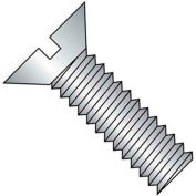 1/4-20X1 3/4  Slotted Flat Machine Screw Fully Threaded 18 8 Stainless Steel, Pkg of 500