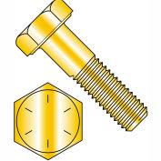 1/2-13 x 4 Hex Cap Screw - Coarse Thread - Grade 8 - Zinc Yellow - Pkg of 200