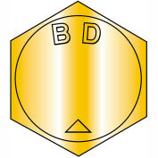 B3/8-16 x 5-1/2 MS90728, alliage d'acier B1821 grossiers vis à tête cylindrique ASTM A354BD - Zinc jaune - 100 pcs