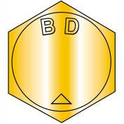 B1 1/8-7 X 2 1/2 MS90728, alliage d'acier B1821 grossiers vis à tête cylindrique par ASTM A354BD Zinc jaune DFAR, 20 pièces