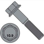 M10-1,5X70 DIN 6921 classe 10 Point 9 métriques bride boulon vis noir Phosphate, paquet de 200