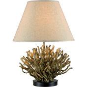 "Kenroy Lighting, Piper Table Lamp, 21081NR, Natural Reed Finish, Resin, 18""L"