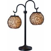 """Mahjoub éclairage, lampe de Table Castillo, 32245BRZ, Bronze Finish, métal, 21 """"L"""
