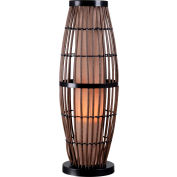 Lampe de table Biscayne Kenroy Lighting, 32247RAT, fini rotin avec accents bronze, plastique, 11 po L
