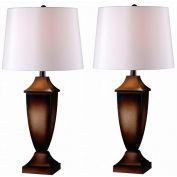 """Kenroy Lighting, Singer 2-Pack Table Lamp, 32254MB, Mottled Bronze Finish, Plastic, 14""""L"""