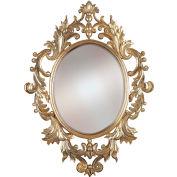 """Kenroy Lighting, Louis Wall Mirror, 60010, Gold Leaf Finish W/Silver Highlights, Polyurethane, 2""""L"""