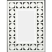 "Kenroy Lighting, Seabreeze Wall Mirror, 60043, Antique White Finish, Polyurethane, 2""L"