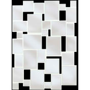 "Kenroy Lighting, Hockney Wall Mirror, 60044, Gloss White Finish, Wood, 1""L"