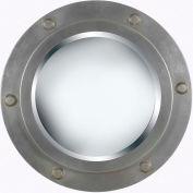 "Kenroy Lighting, Portside Wall Mirror, 60050, Weathered Steel Finish, Polyurethane, 2""L"