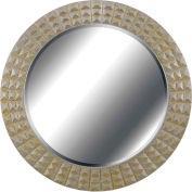 "Kenroy Lighting, Bezel Wall Mirror, 60092, Gold Gilt Finish W/Silver Accents, Polyurethane, 2""L"