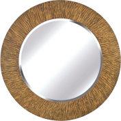 "Kenroy Lighting, Burl Wall Mirror, 60094, Striated Black & Tan Finish, Wood, 1""L"