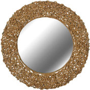 """Kenroy Lighting, Seagrass Wall Mirror, 60203, Natural Rope Finish, Rope, 3""""L"""