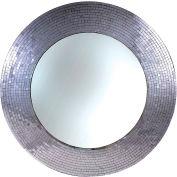 "Kenroy Lighting, Miranda Wall Mirror, 61007, Silver Glass Mosaic, Polyurethane, 35""L"