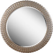 "Kenroy Lighting, Bracelet Wall Mirror, 61016, Brushed Silver & Gold Finish, Polyurethane, 1""L"