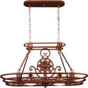 "Kenroy Lighting, Dorada 2 Light Pot Rack, 90304GC, Gilded Copper Finish, Metal, 15""L"