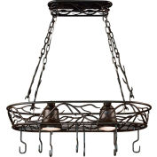 "Kenroy Lighting, Twigs 2 Light Pot Rack, 90308BRZ, Bronze Finish, Metal, 15""L"