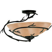 "Kenroy Lighting, Twigs 1 Light Semi-Flush, 90905BRZ, Bronze Finish, Metal, 20""L"