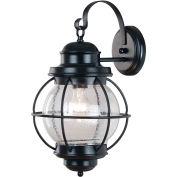 """Mahjoub éclairage, Hatteras grand mur lanterne, 90963BL, Black Finish, métal, 11 """"L"""