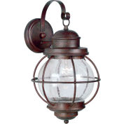 "Kenroy Lighting, Hatteras Large Wall Lantern, 90963GC, Gilded Copper Finish, Metal, 11""L"