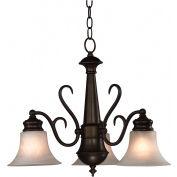 """Kenroy Lighting, Wynwood 3 Light Chandelier, 91399BBZ, Burnished Bronze Finish, Metal, 22""""L"""