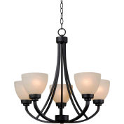 "Kenroy Lighting, Dynasty 5 Light Chandelier, 93195BBZ, Burnished Bronze Finish, Metal, 25""L"