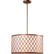 "Kenroy Lighting, Tripoli 3 Light Pendant, 93373AG, Antique Gold Finish, Metal, 18""L"