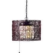 "Kenroy Lighting, Tanglewood 1Lt Pendant, 93393BRZ, Black Finish, Metal & Plastic, 16""L"
