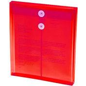 ULTRACOLOR Poly extensible String cravate enveloppes, chargement par le dessus, vert, 5/Pack