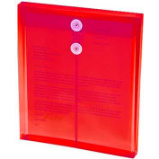 """Smead Ultracolor Expandable Poly String Tie Envelopes, Top Load, 8-1/2""""W x 11""""H, Red, 5/Pack"""