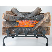 Pleasant Hearth Electric Crackling Natural Wood Log with Grate L-20WG
