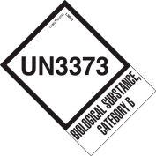 """LabelMaster® étiquettes «UN3373 Biological Substance Category B», 2""""L x 2-3/4""""W, Blanc, Rouleau de 500"""