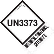 """LabelMaster® """"UN3373 Biological Substance Category B"""" Labels, 2""""L x 2-3/4""""W, White, Roll of 500"""