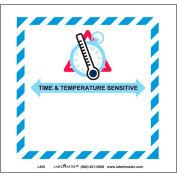 """Étiquettes LabelMaster® avec impression «Sensible au temps et à la température», 4-3 / 4 «L x 5""""W, blanc, rouleau de 500"""