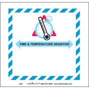 """Étiquettes LabelMaster® avec impression «Sensible au temps et à la température», 4-3 / 4 «L x 5""""W, blanc, rouleau de 50"""