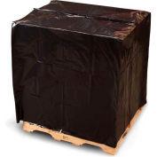 "Pallet Top W/UVI & UVA Covers, 51""W x 49""D x 97""H, 3 Mil, Black, 30/Pack"