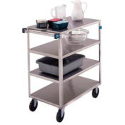 Lakeside® 354 Medium Duty Stainless Steel 4 Shelf Cart 3 Edges Up 500 Lb Cap